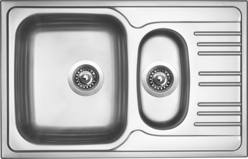 Nerezový dřez Sinks STAR 780.1 V 0,6mm matný STSSTM78050016V
